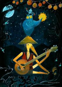affiche_décoration_enfants_illustration_animaux_musique_atelier_lousparel