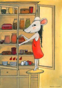 affiche_décoration_enfants_illustration_souris_sucrerie_atelier_lousparel