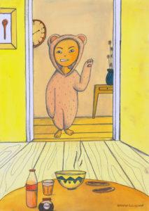 illustration_enfant_décoration_ours_garçon_grincheux_atelier_lousparel