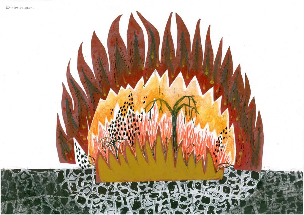 histoire_illustration_enfant_kamishibai_jeu_morale_écologique_imprimé_france_feu_homme_atelier_lousparel_art_peinture (4)