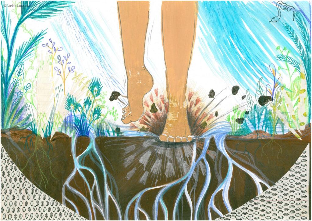 histoire_illustration_enfant_kamishibai_jeu_morale_écologique_imprimé_france_feu_homme_atelier_lousparel_art_peinture (9)