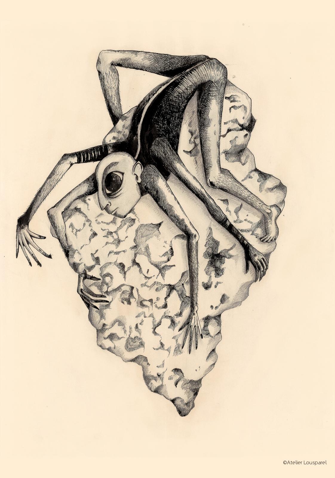 Affiche •l'homme insecte•