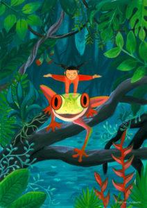 ©atelier_lousparel_affiche_décoration_enfants_illustration_ gym_grenouille