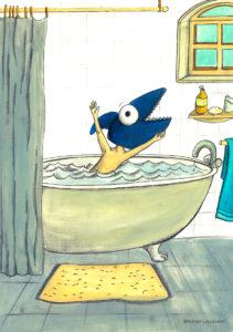 affiche_décoration_enfants_illustration_bain_requin_atelier_lousparel