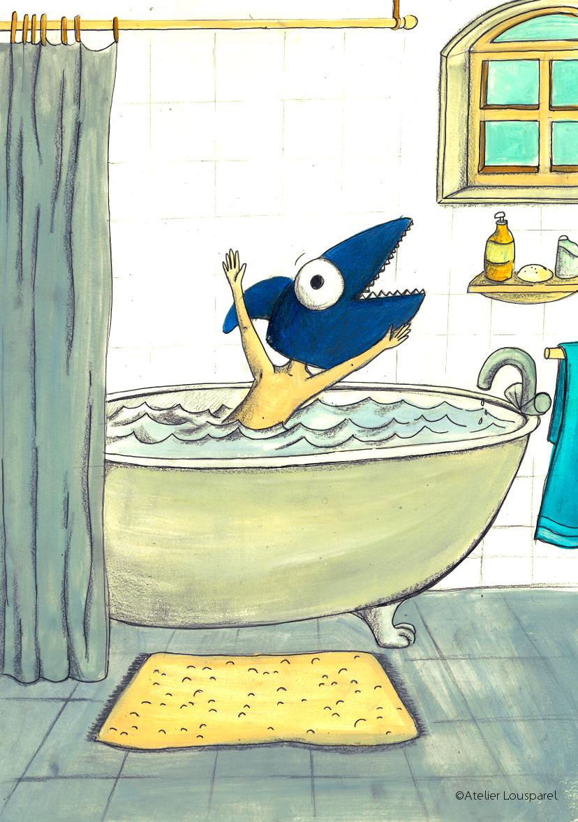 Affiche • la terreur du bain •