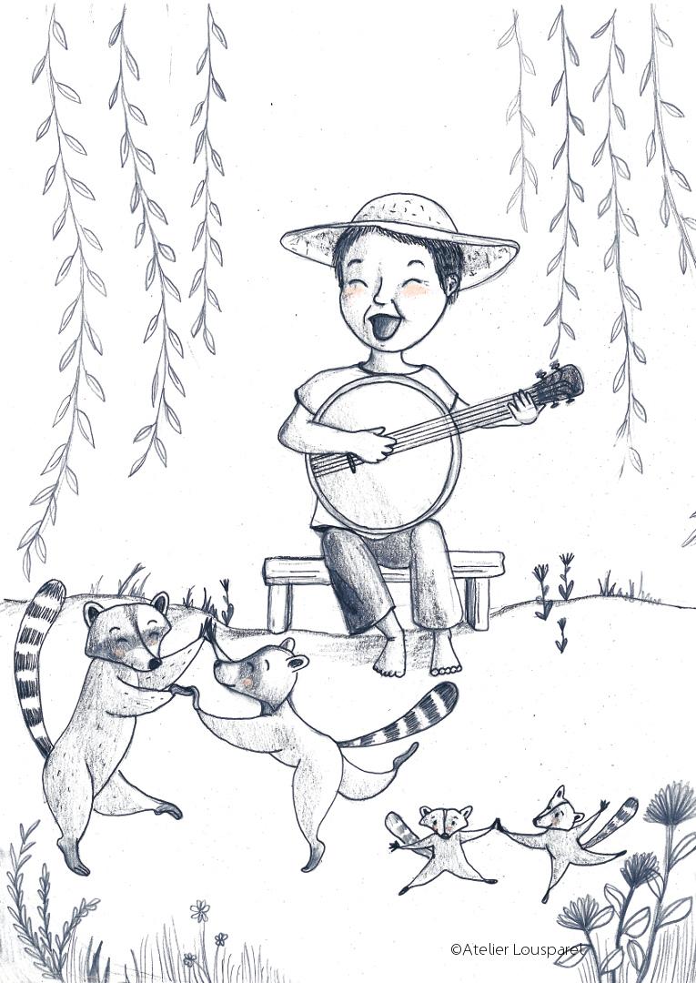 Affiche • le garçon au banjo •