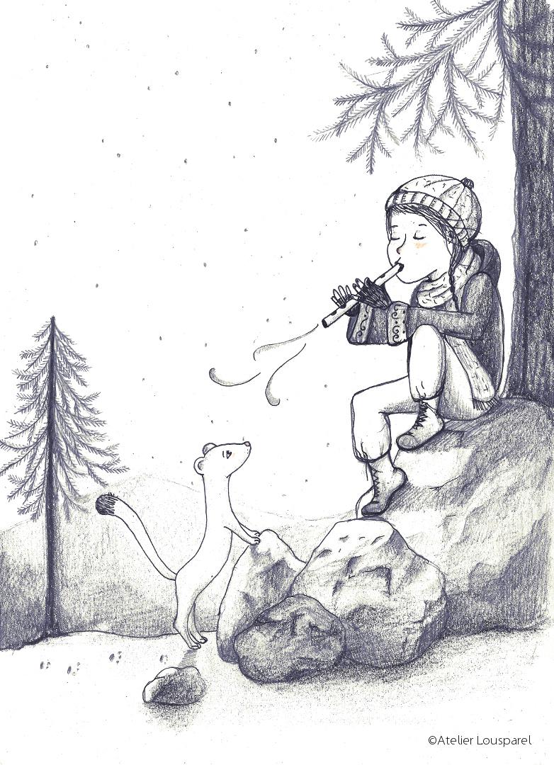 Affiche • la fille et l'hermine •