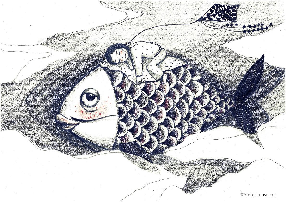 Affiche • le poisson volant •