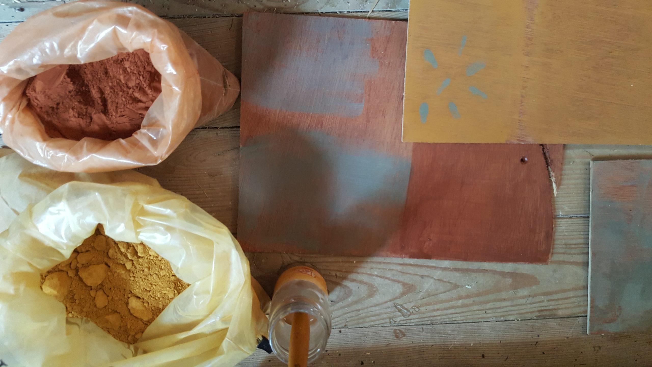 Fabrication des peintures naturelles