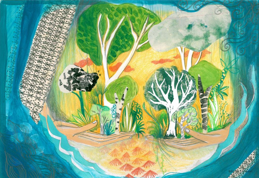 histoire_illustration_enfant_kamishibai_jeu_morale_écologique_imprimé_france_feu_homme_atelier_lousparel_art_peinture (10)