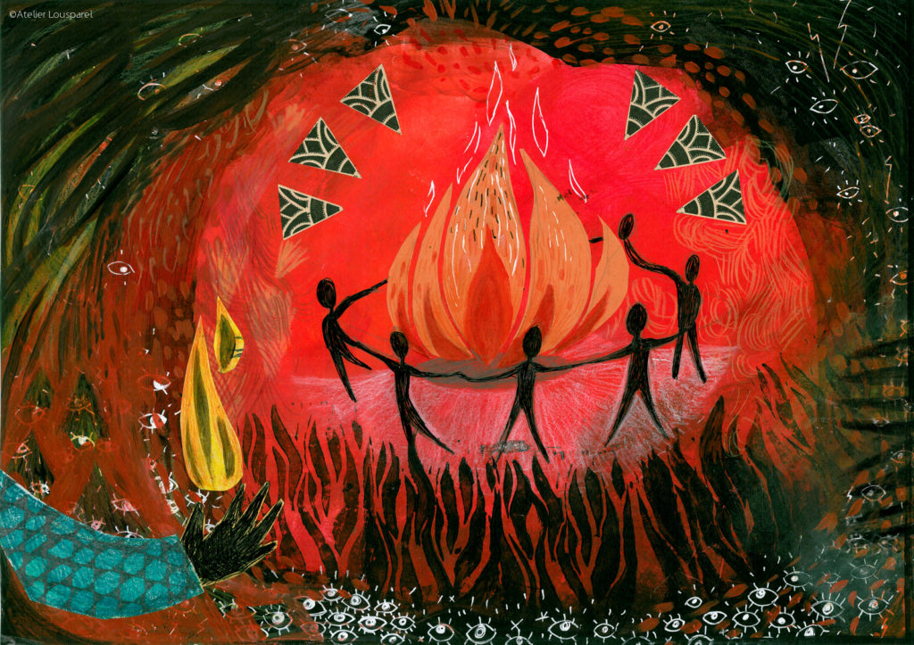 histoire_illustration_enfant_kamishibai_jeu_morale_écologique_imprimé_france_feu_homme_atelier_lousparel_art_peinture (2)