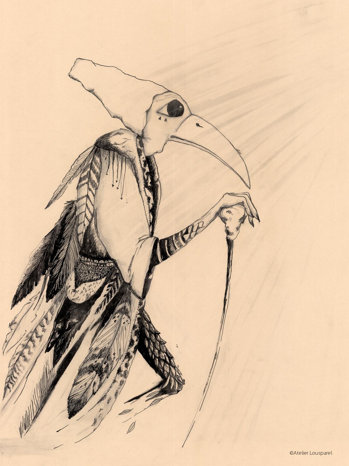 Affiche •la femme oiseau•