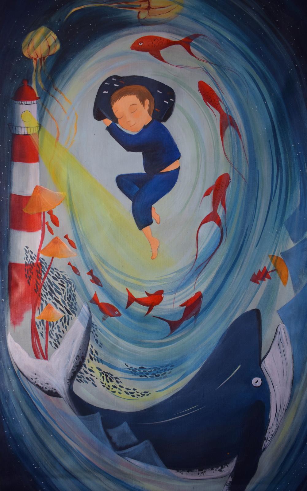 Kakemono •le garçon et la mer•