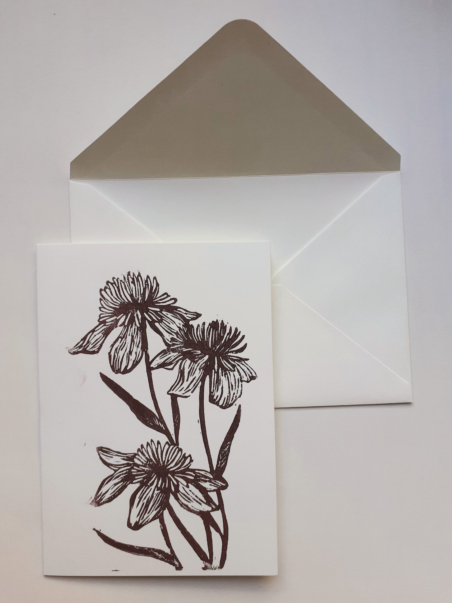Carte fleurs 2 + enveloppe